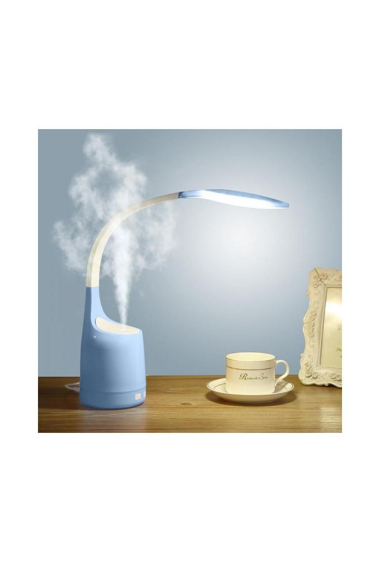 Настольная лампа аромадиффузор 2в1 (голубая)
