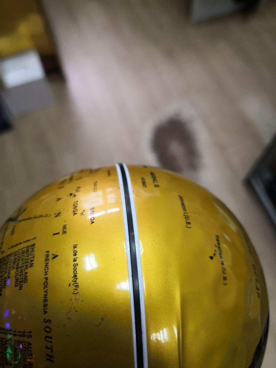 УЦЕНЕННЫЙ ТОВАР! Левитирующий глобус в круглой рамке (D-10см) золотой
