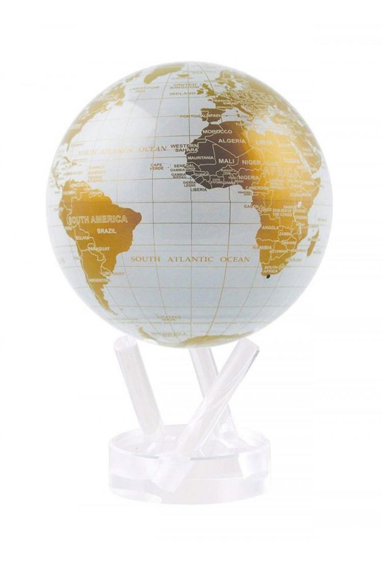 Самовращающийся глобус  MOVA GLOBE d12 см БЕЛОЕ ЗОЛОТО
