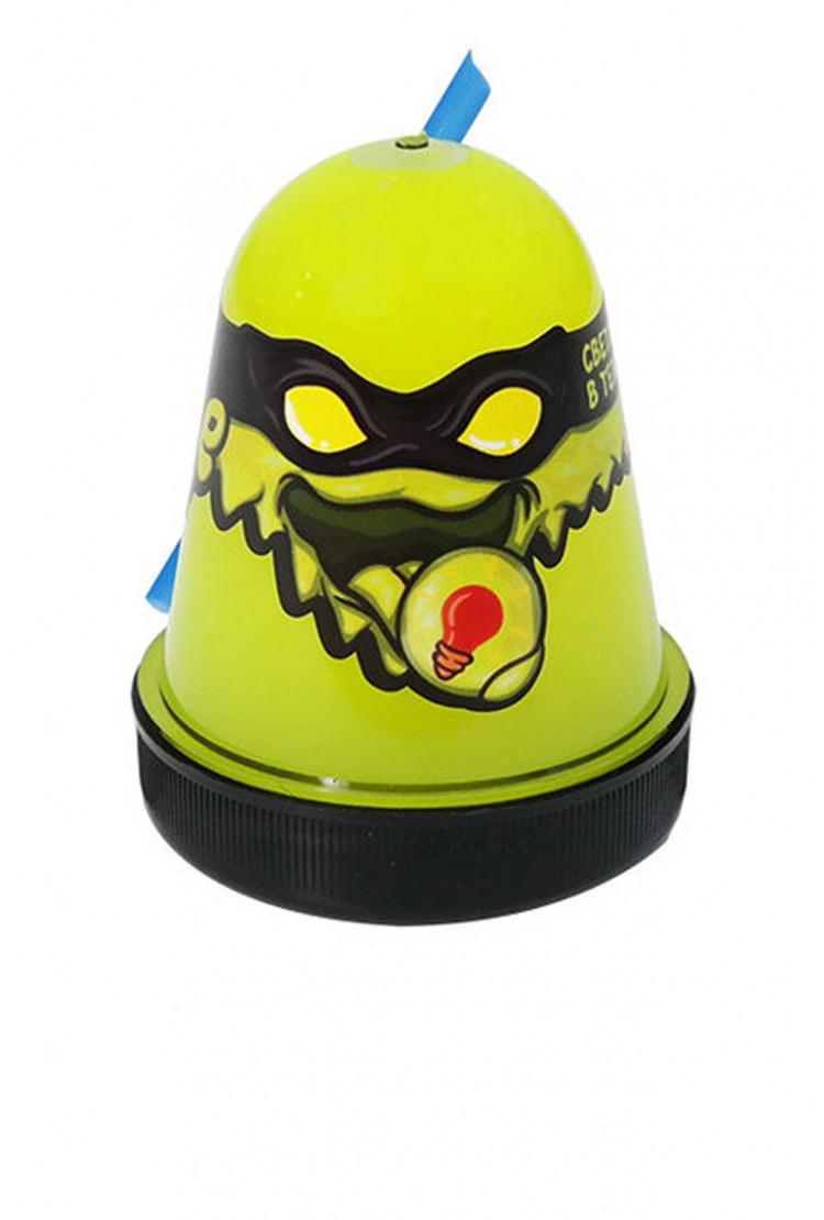 """Slime """"Ninja"""", Желтый, светится в темноте"""