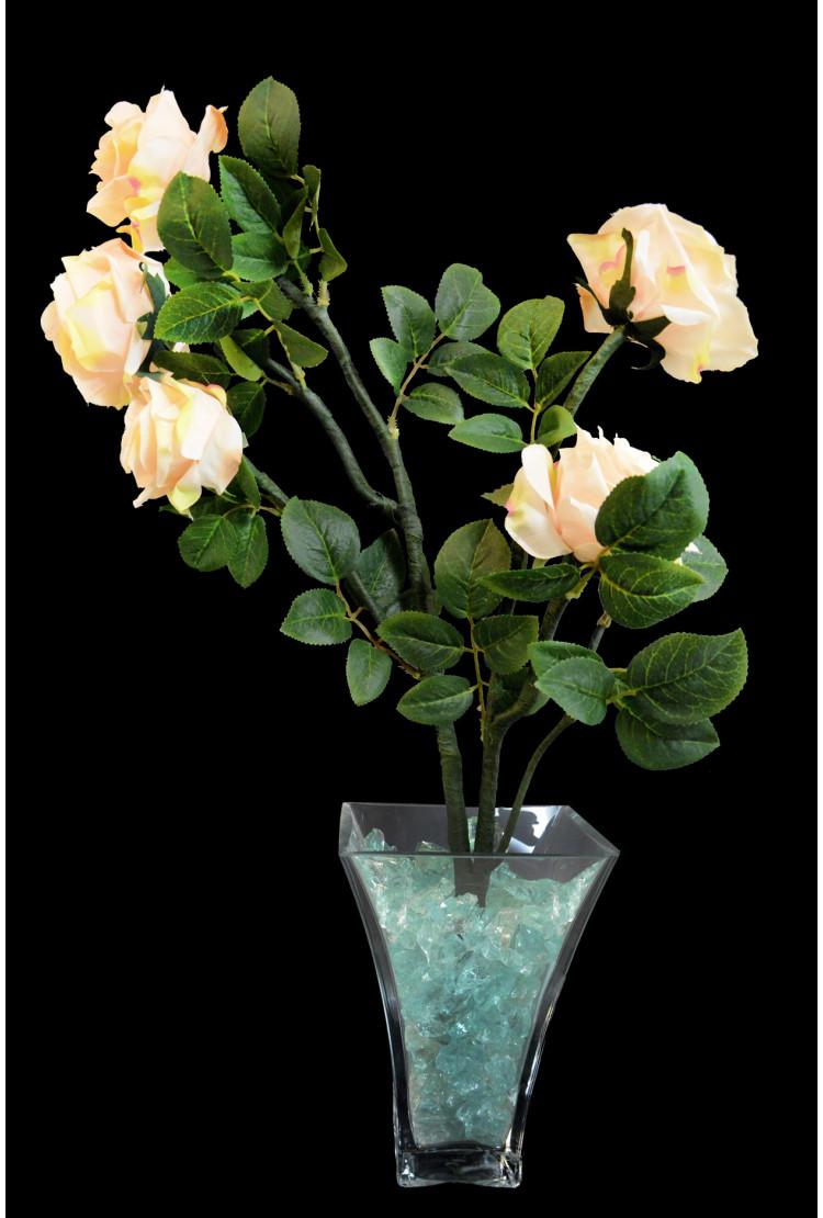 Светодиодные цветы Розы Кремовые (син-зел) 5 цветов