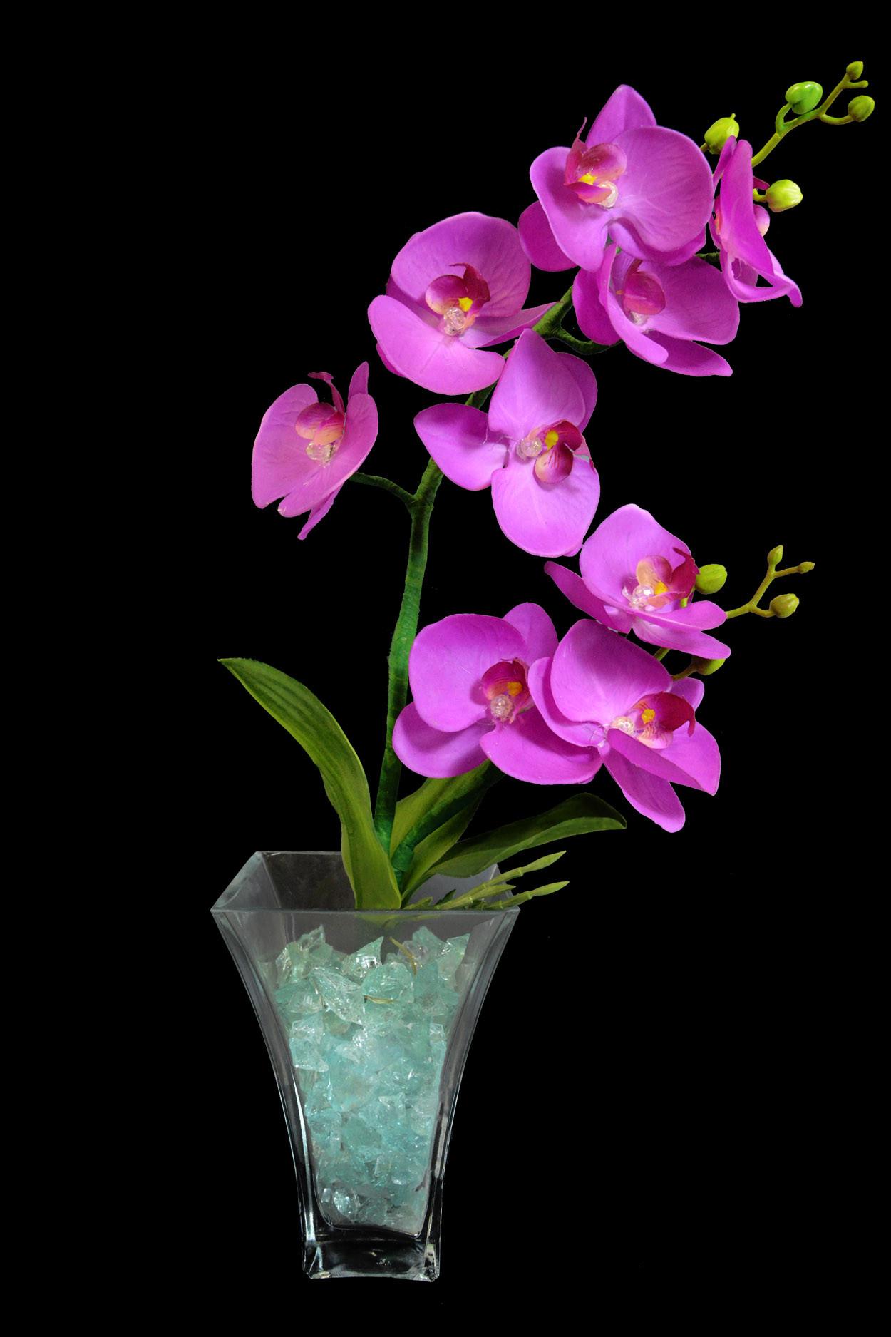 """Светильник """"Орхидея фиолетовые"""" (син-зел) 9 цветков от 4 800 руб"""