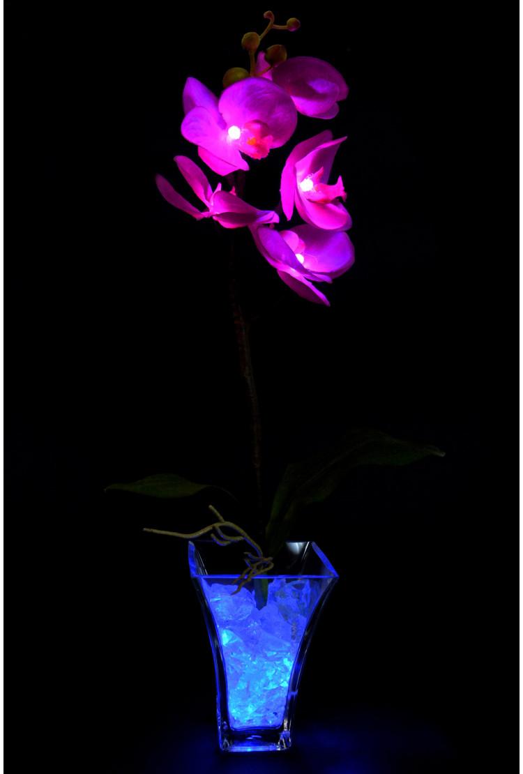 Светильник Орхидея фиолетовая (син) 5 цветков