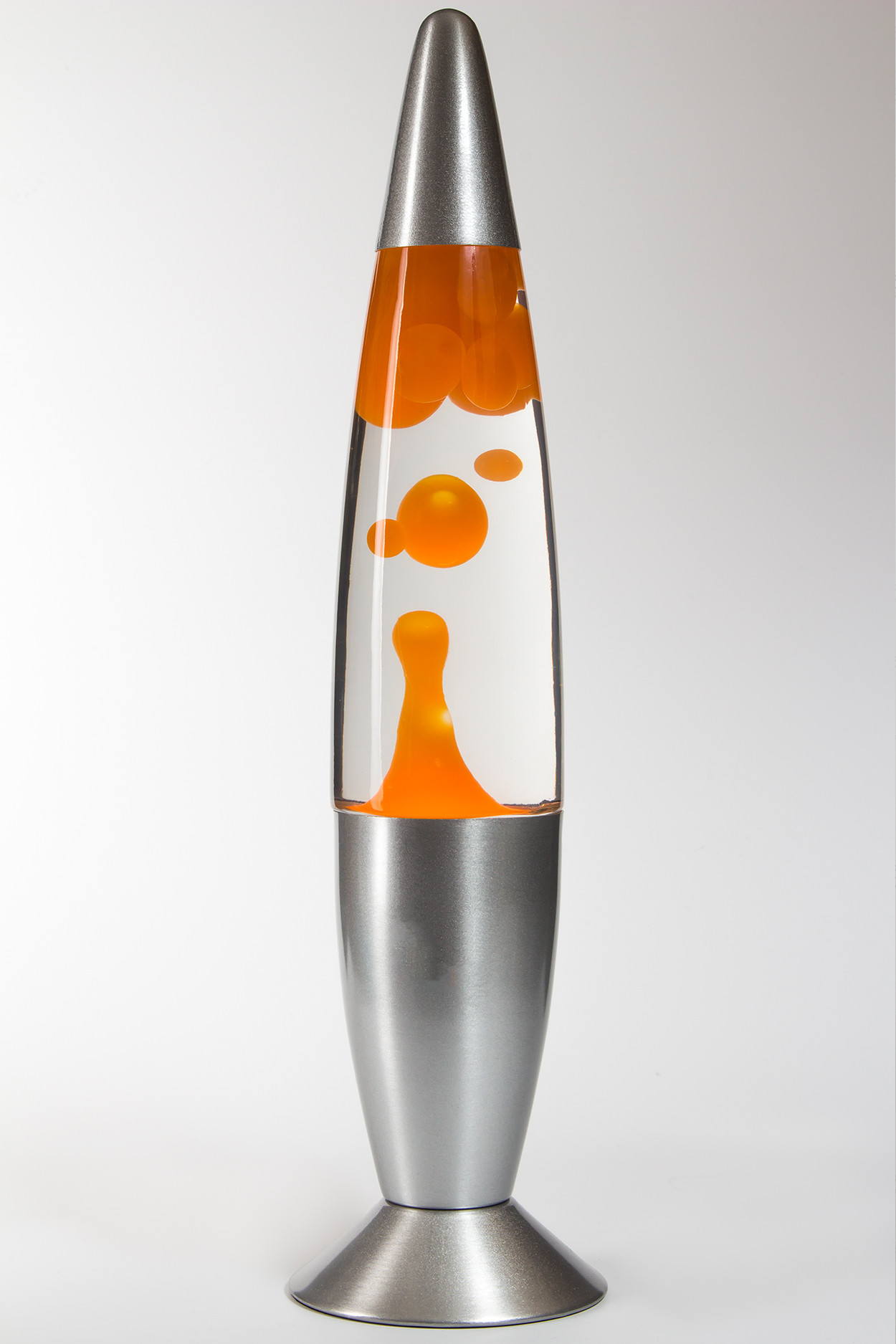 Лава-лампа 48см Оранжевая/Прозрачная (Воск)