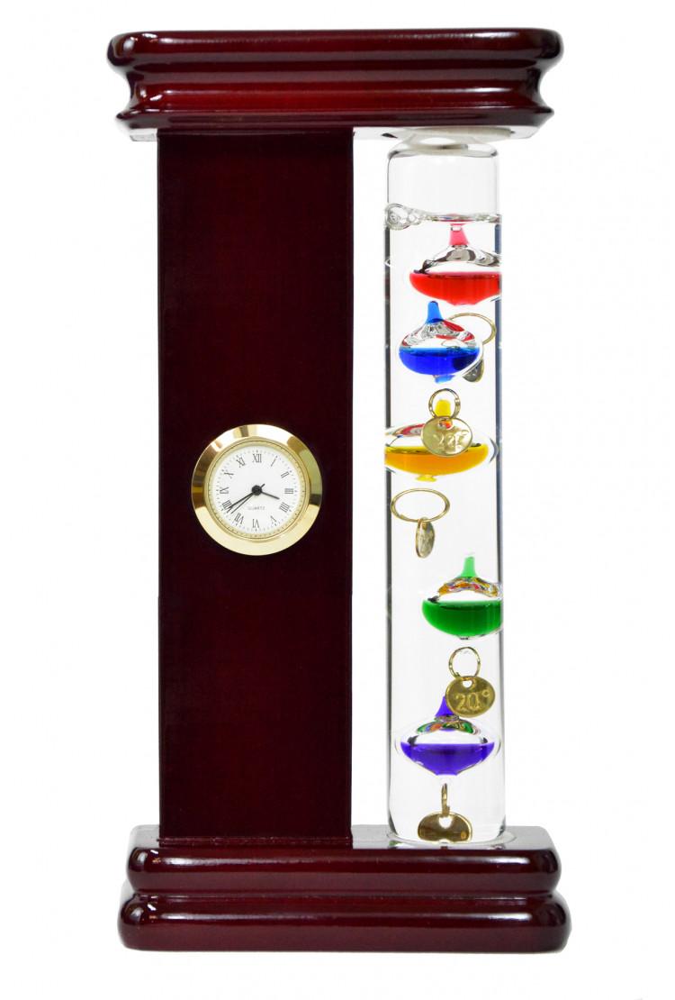 Термометр Галилея Галилео с часами 18см