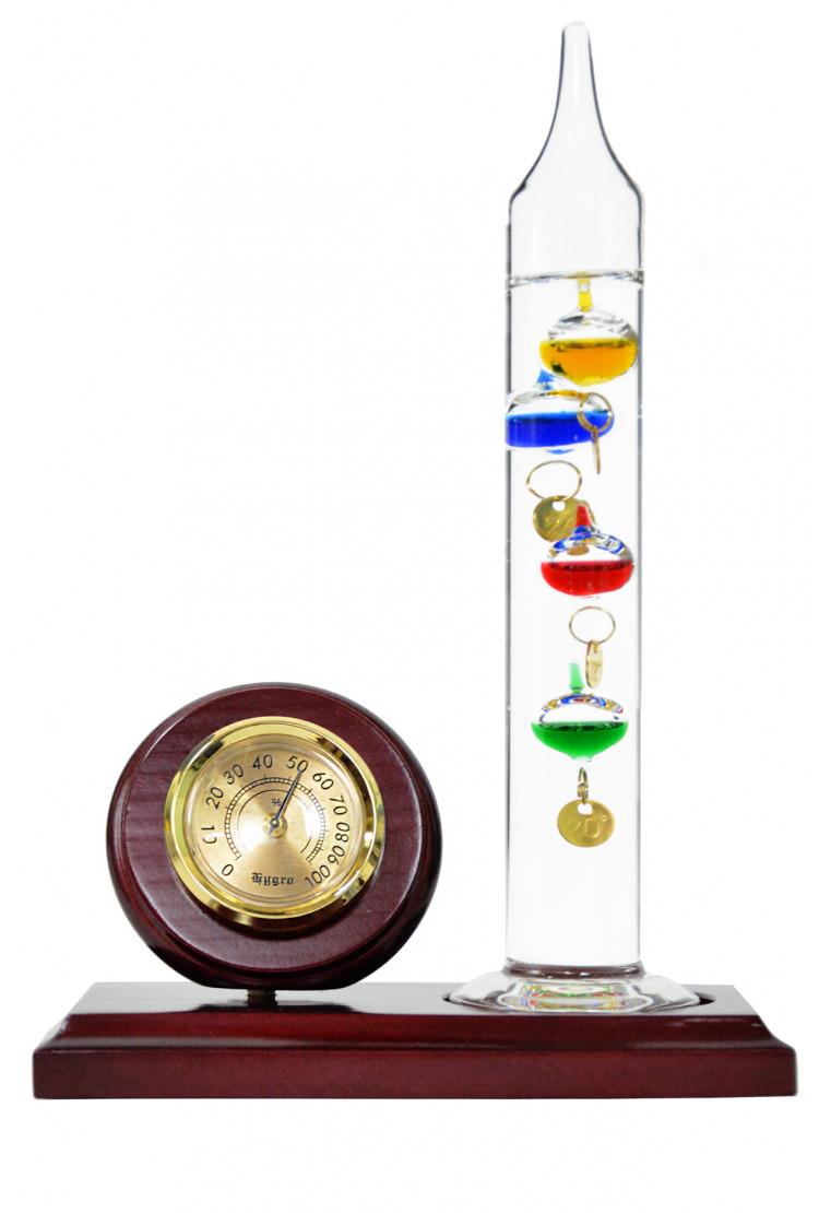 Термометр Галилея Галилео с гидрометром 19 см