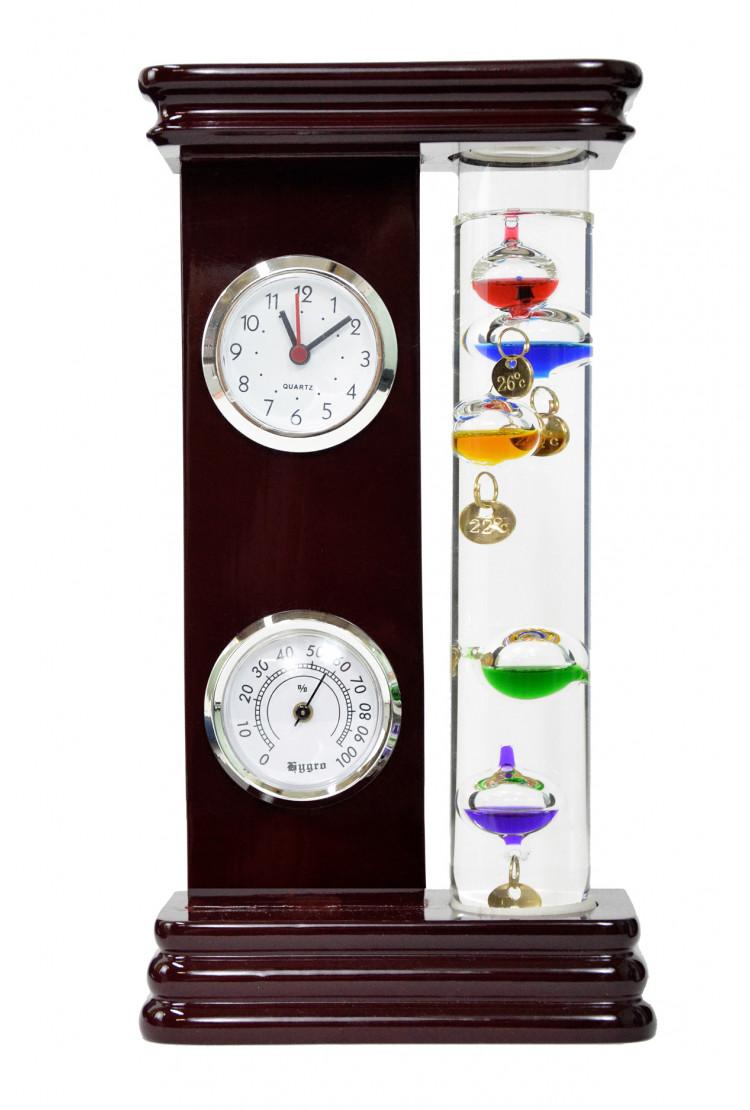 Термометр Галилео с гидрометром и часами 23,5 см