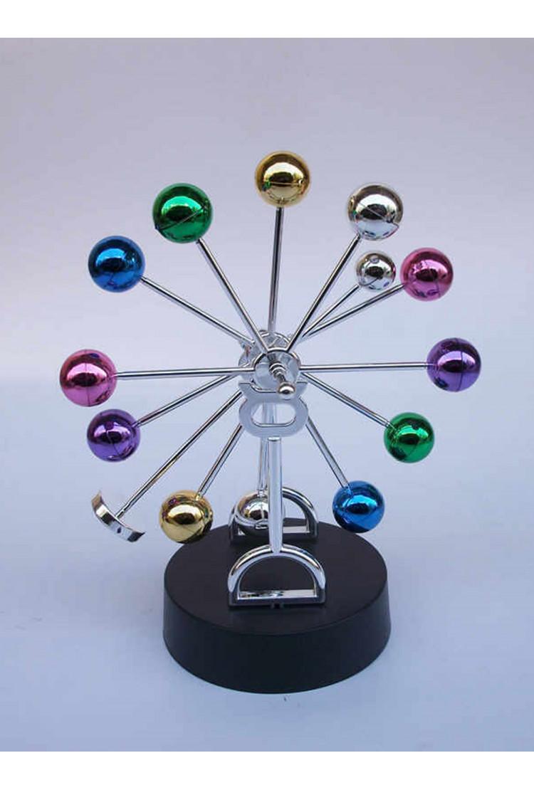 Настольный магнитный маятник цветные шары