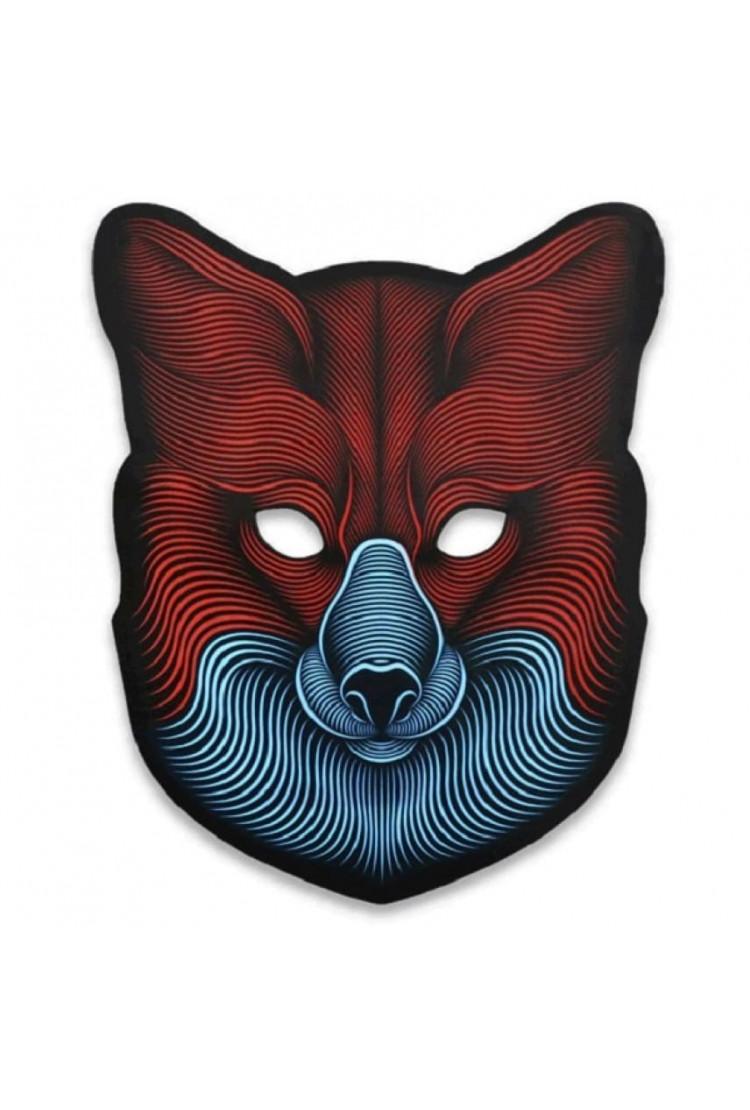 """Световая Маска с датчиком звука GEEKMASK """"FOX"""""""