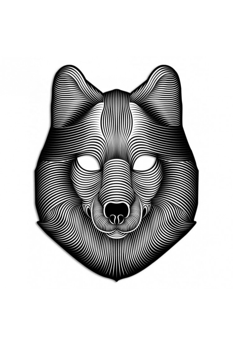 "Световая Маска с датчиком звука GEEKMASK ""SHADOW WOLF"""