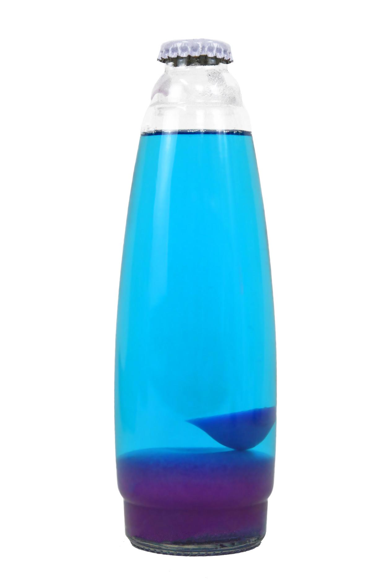Колба для лава-лампы 35 см розовая/синяя (20*5,5)