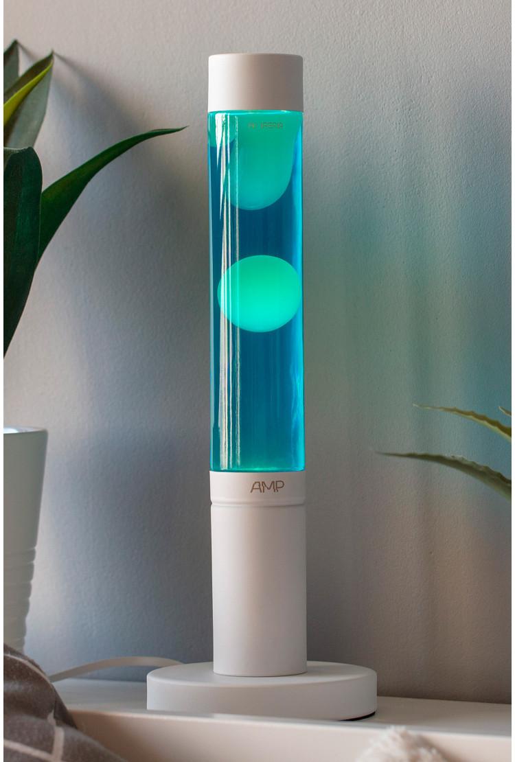 Лава лампа Amperia Slim Белая/Синяя (39 см)