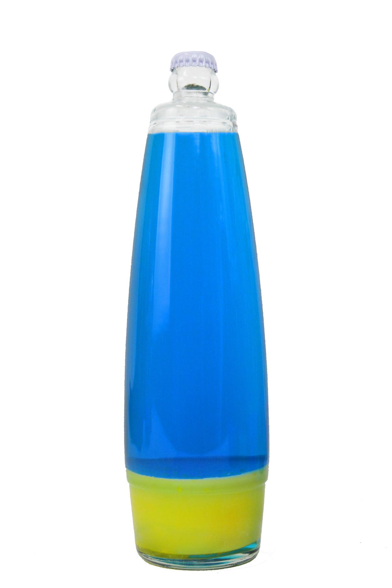 Колба для лава лампы 41 см Желтая/Синяя (25*6,5)