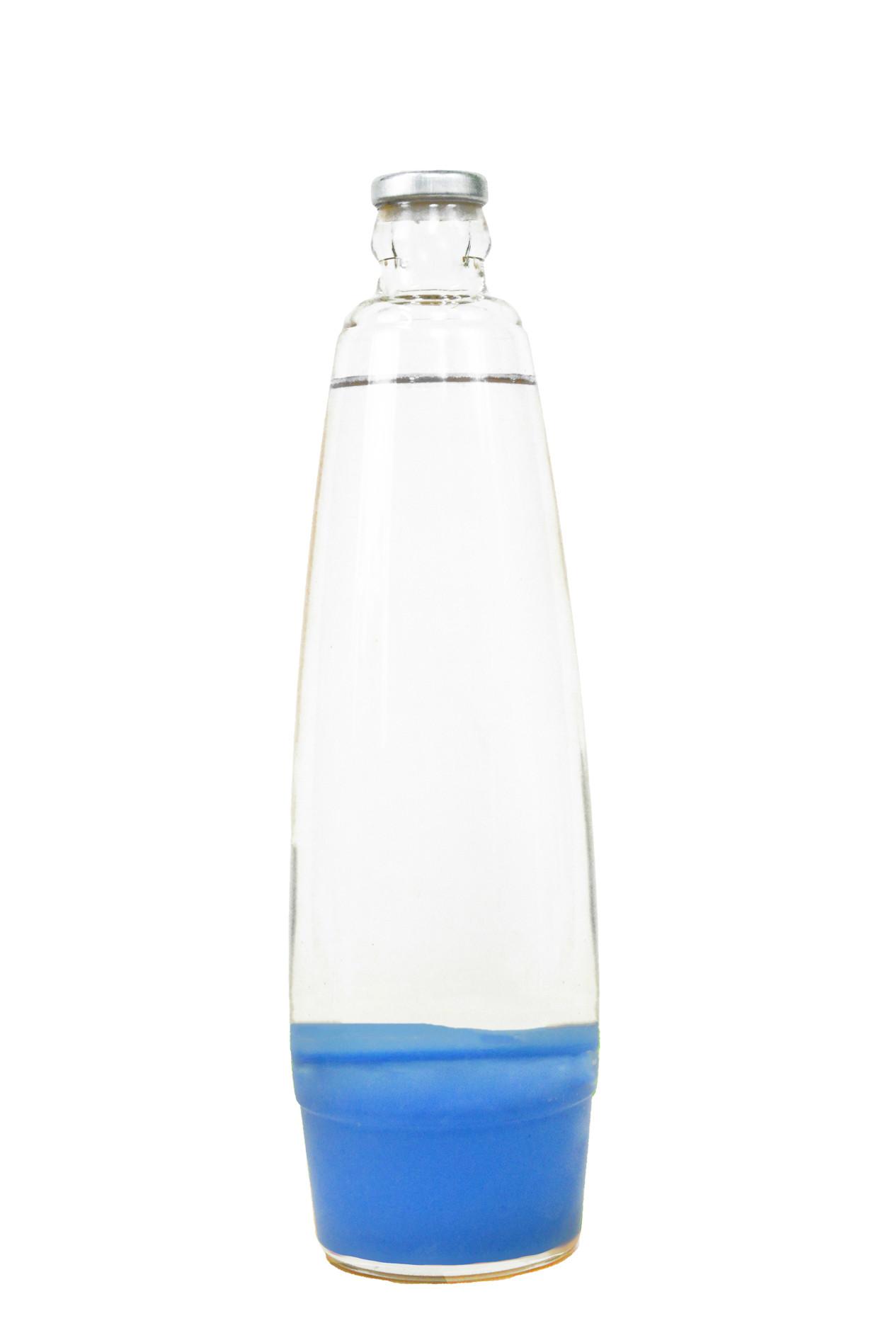 Колба для лава лампы 41 см Синяя/Прозрачная (25*6,5)