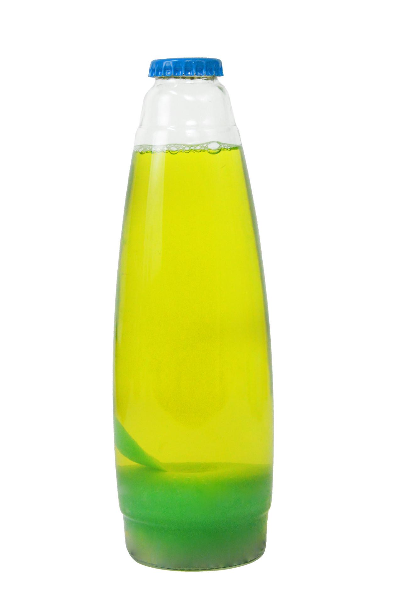 Колба для лава-лампы 35 см Зелёная/Жёлтая (20*5,5)