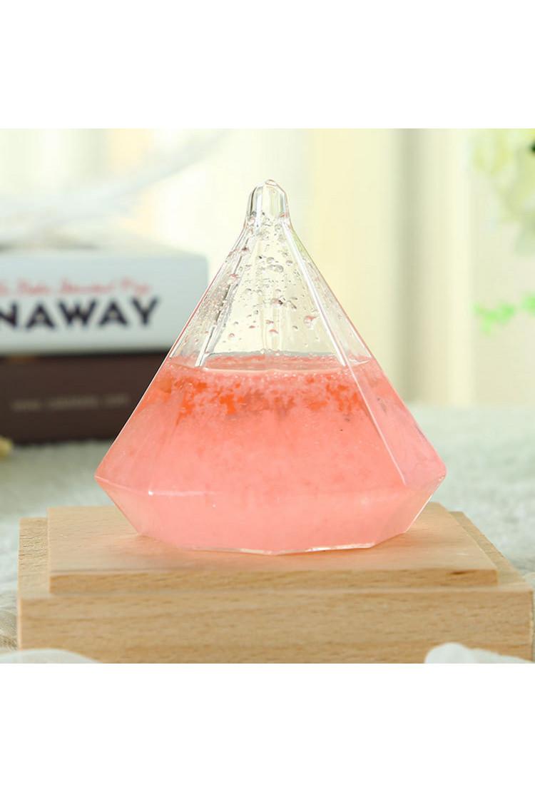 Штормгласс  Алмаз Розовый с подсветкой (17 см)