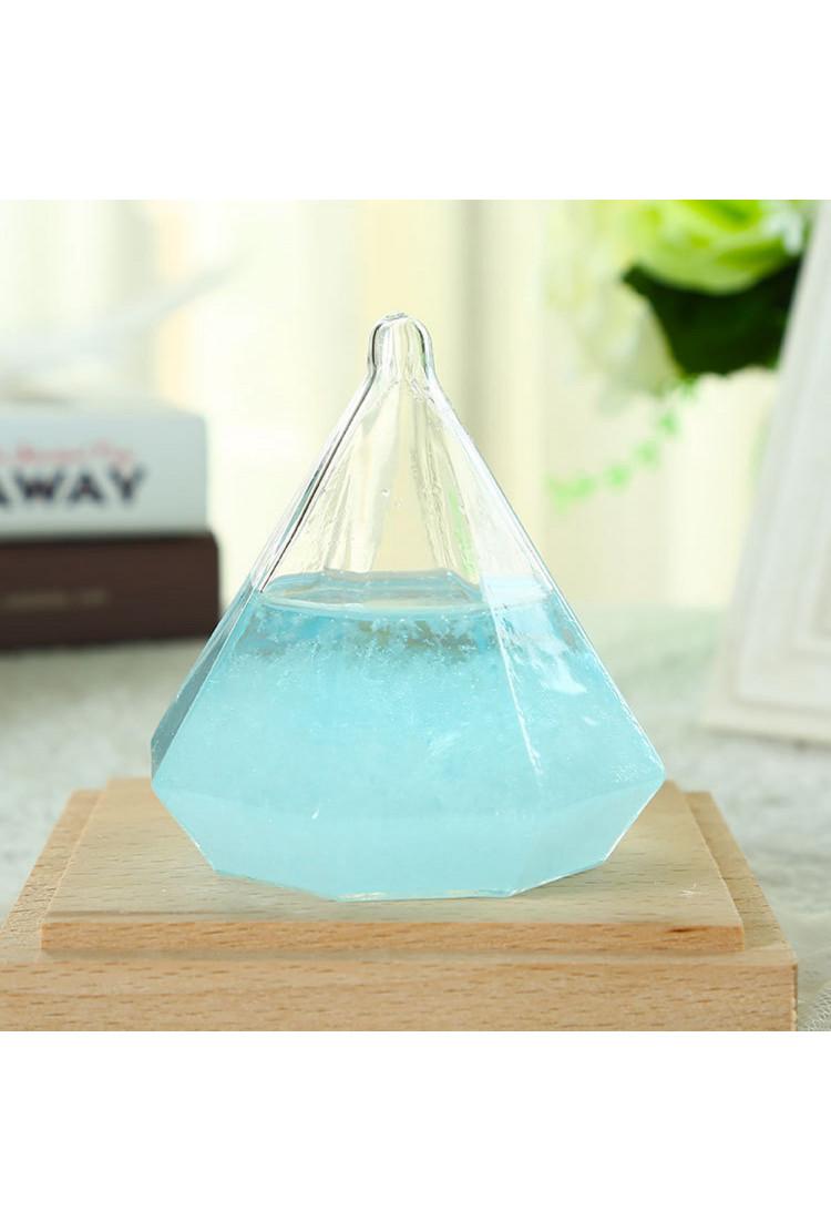 Штормгласс Tempo Crystal XL голубой с подсветкой и ДУ (17 см)