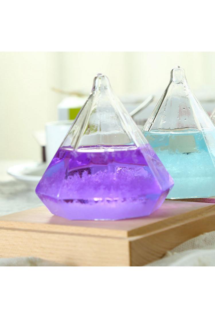 Штормгласс  Кристалл фиолетовый с подсветкой и ДУ (17 см)