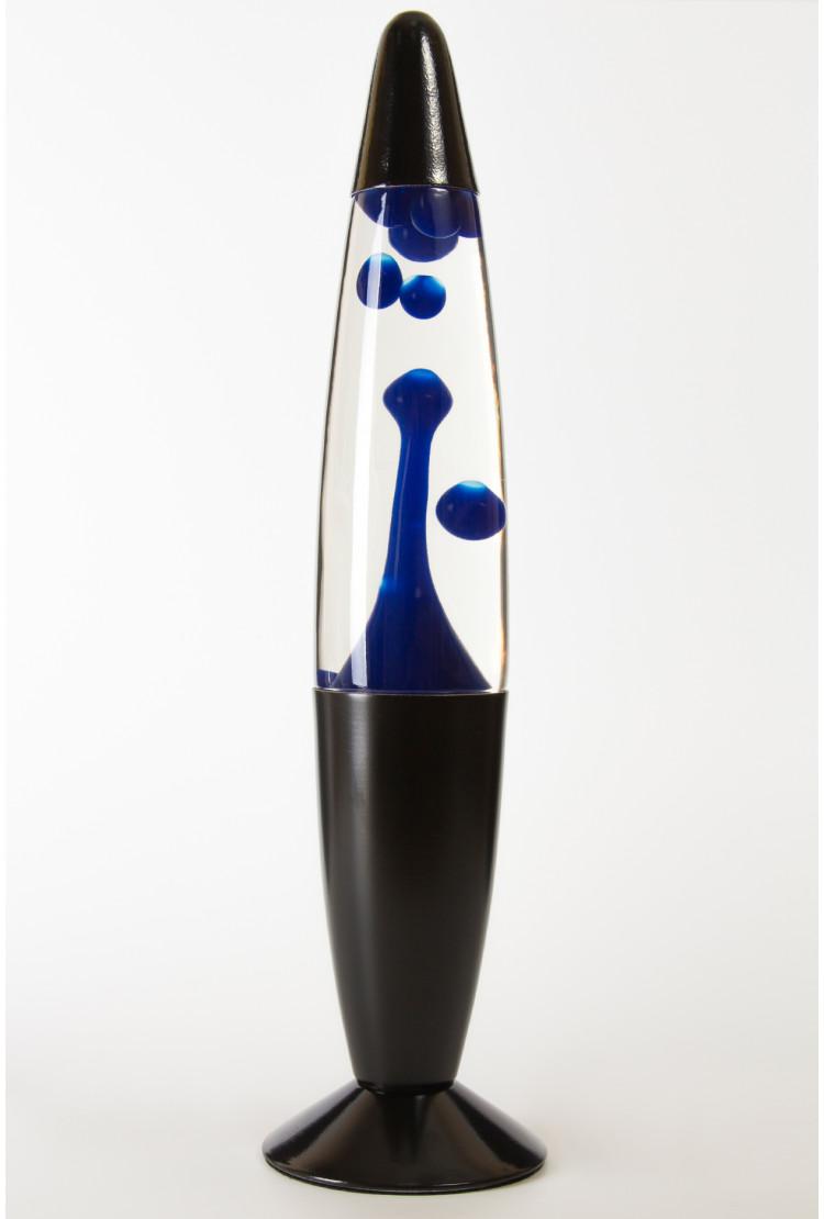Лава-лампа 35см Black Синяя/Прозрачная (Воск)