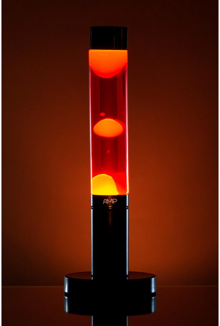 Лава лампа Amperia Slim Желтая/красная (39 см)