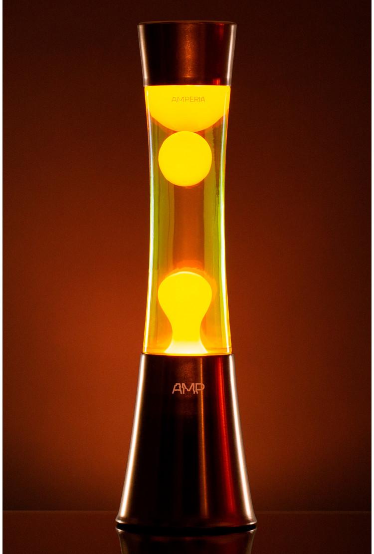 Лава лампа Amperia Grace Оранжевая/Желтая (39 см)