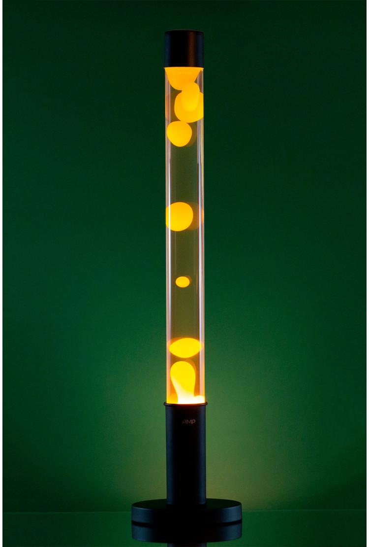 Лава лампа Amperia Falcon Желтая/Прозрачная (76 см)