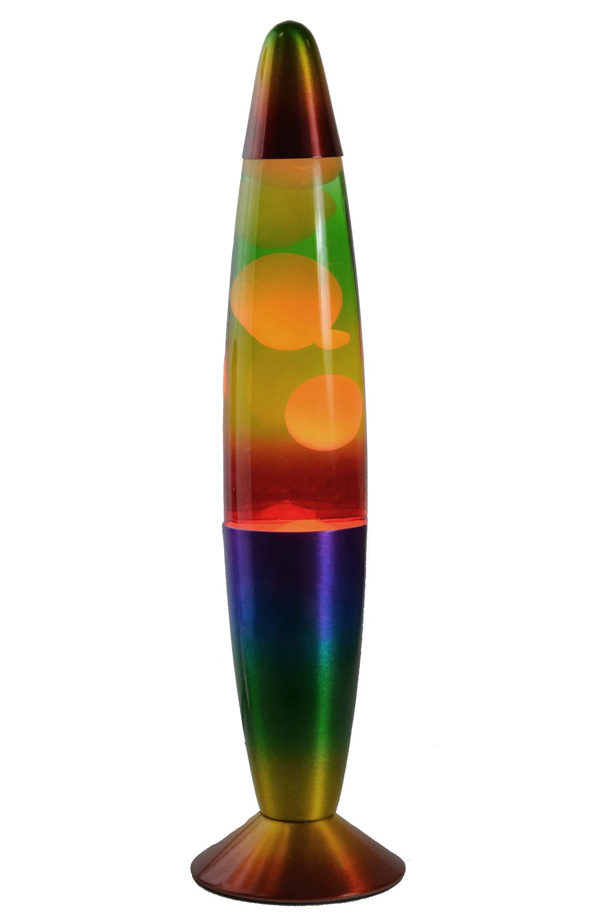 Лава-лампа 35см Хром Радуга (Воск)
