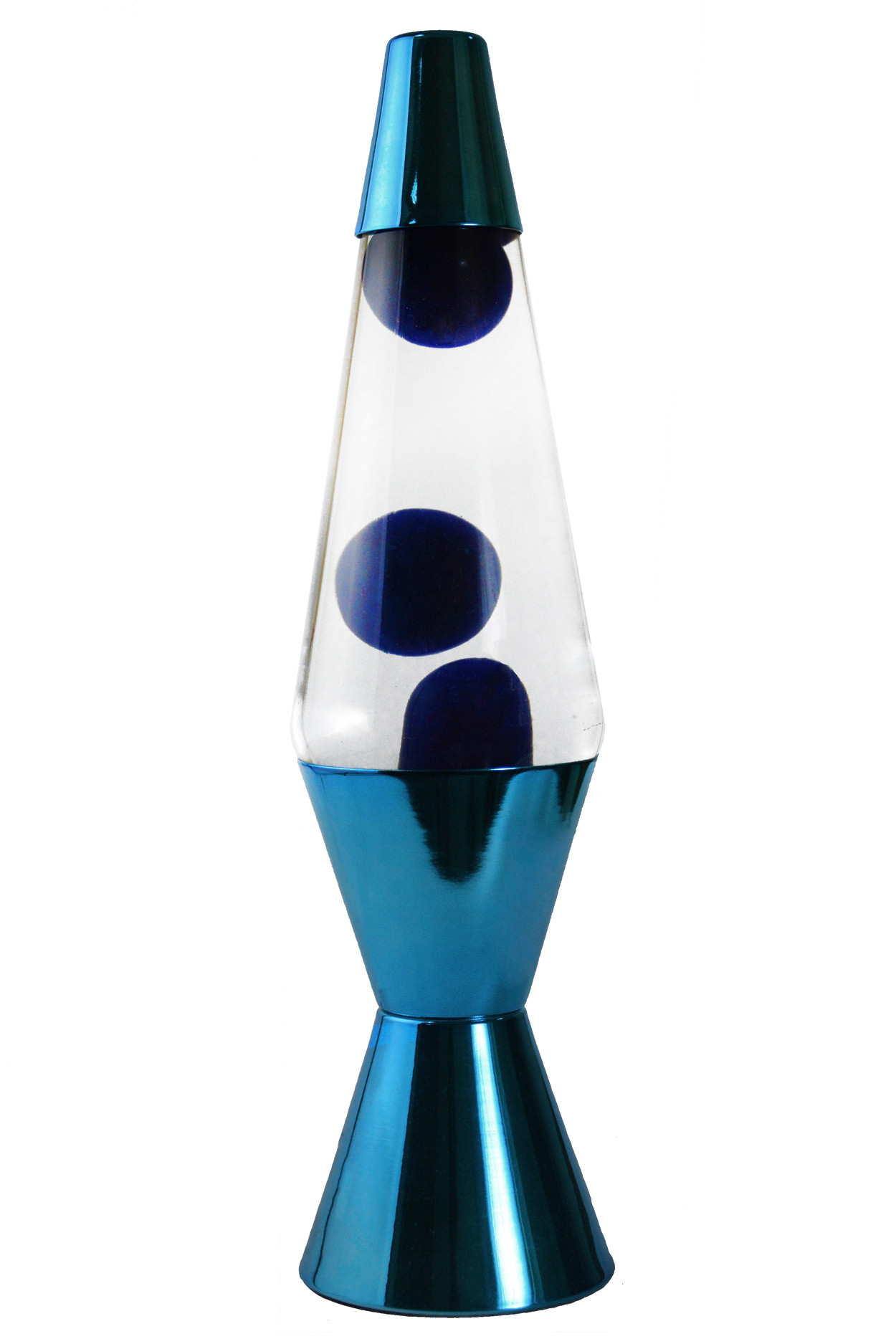 Лава-лампа 36см МТ Хром Синяя/Прозрачная (Воск)