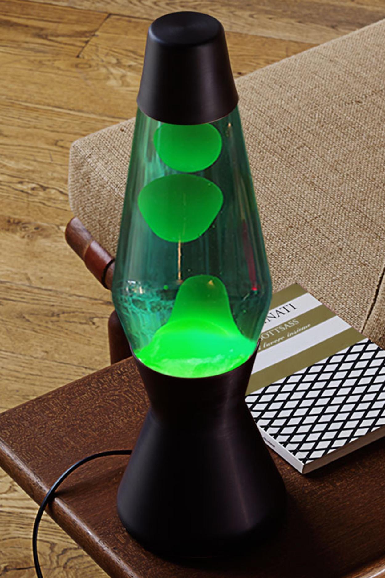 Лава-лампа Mathmos Astro Зелёная/Синяя Matt Black(Воск)