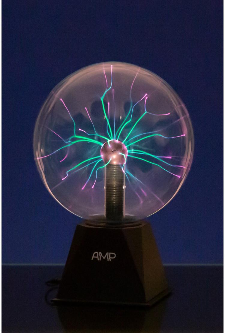 Плазменный шар Amperia Greenflow 20см (Тесла) Audio