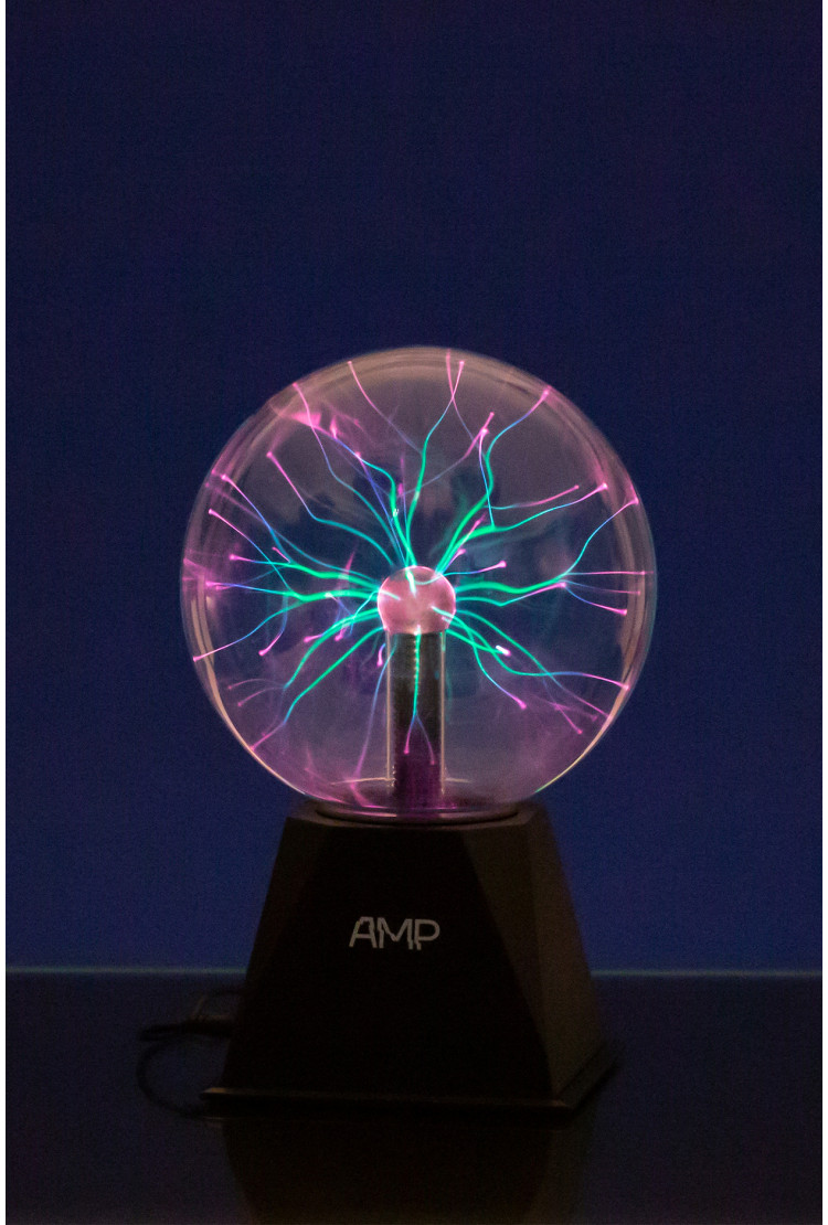 Плазменный шар Amperia Greenflow 16см (Тесла) Audio