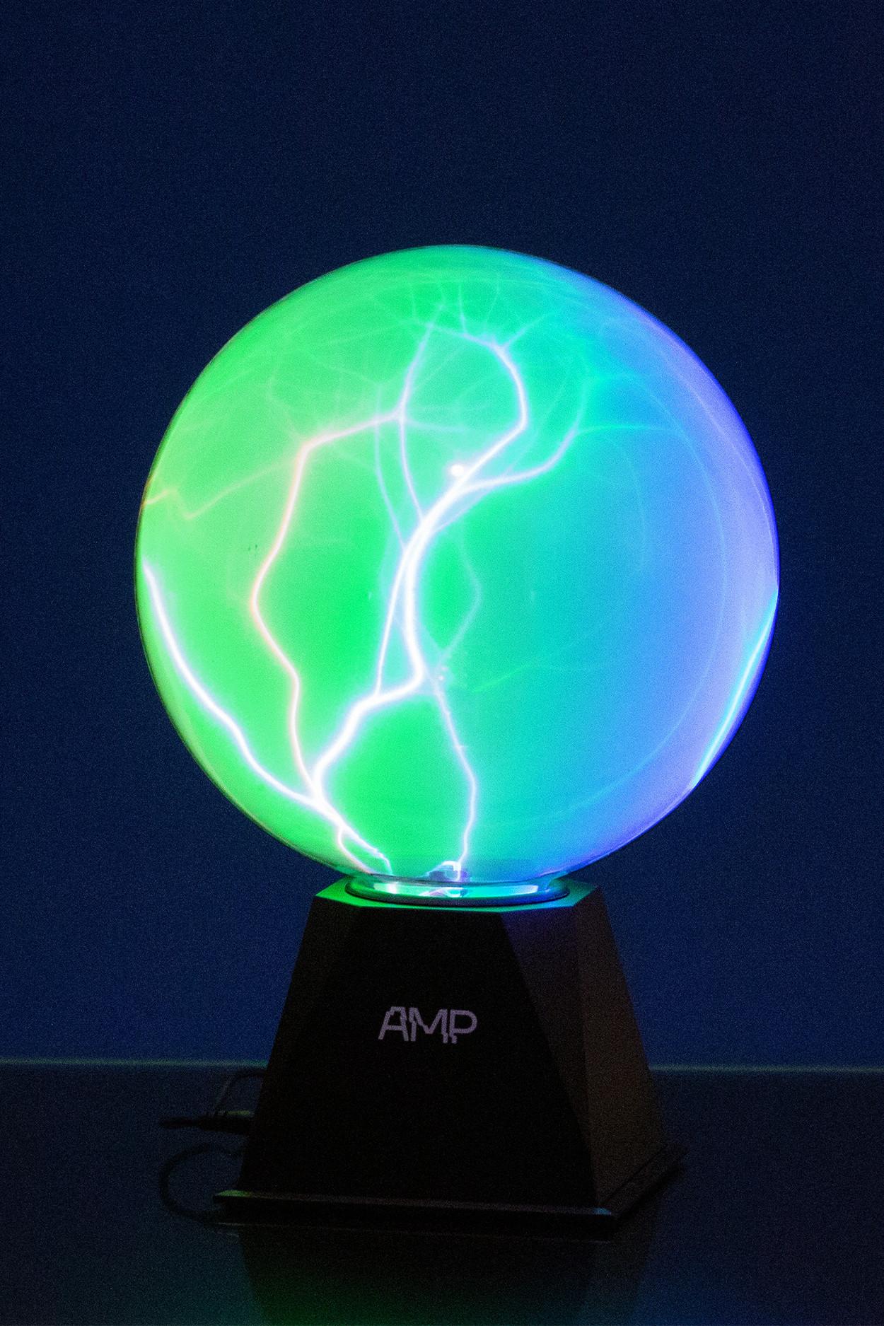Плазменный шар Amperia Mystery 20 см (Audio)