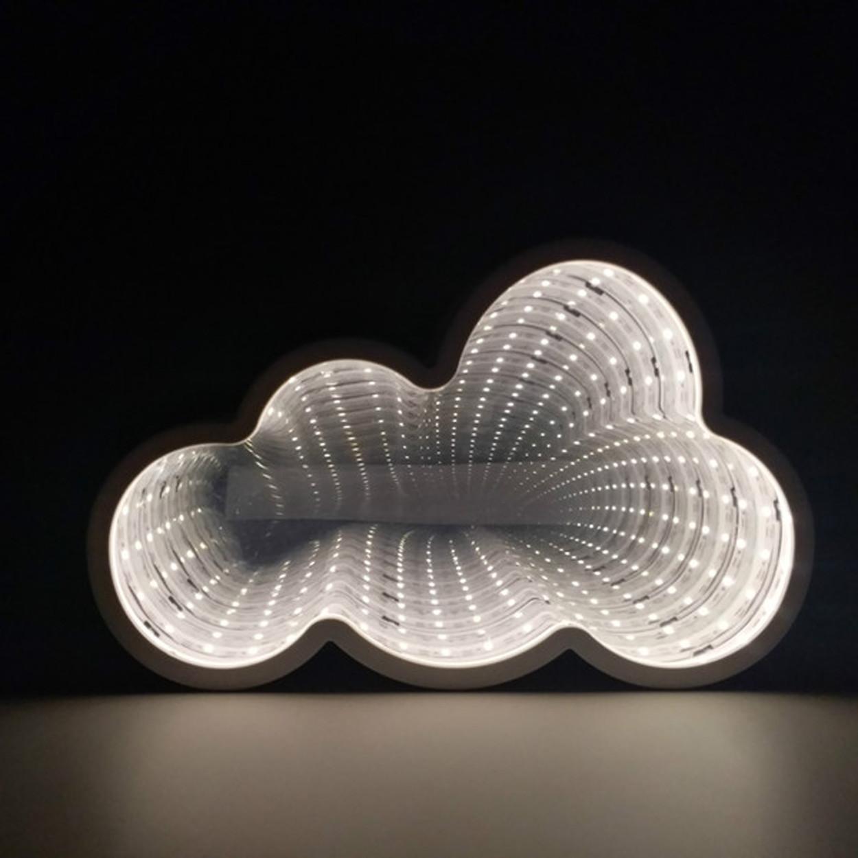 """Светодиодное зеркало бесконечности """"Облако"""""""