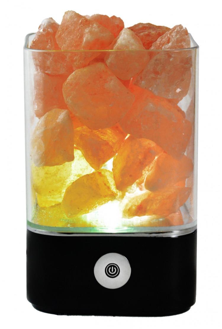 Солевой светильник SmartSalt квадратный Black