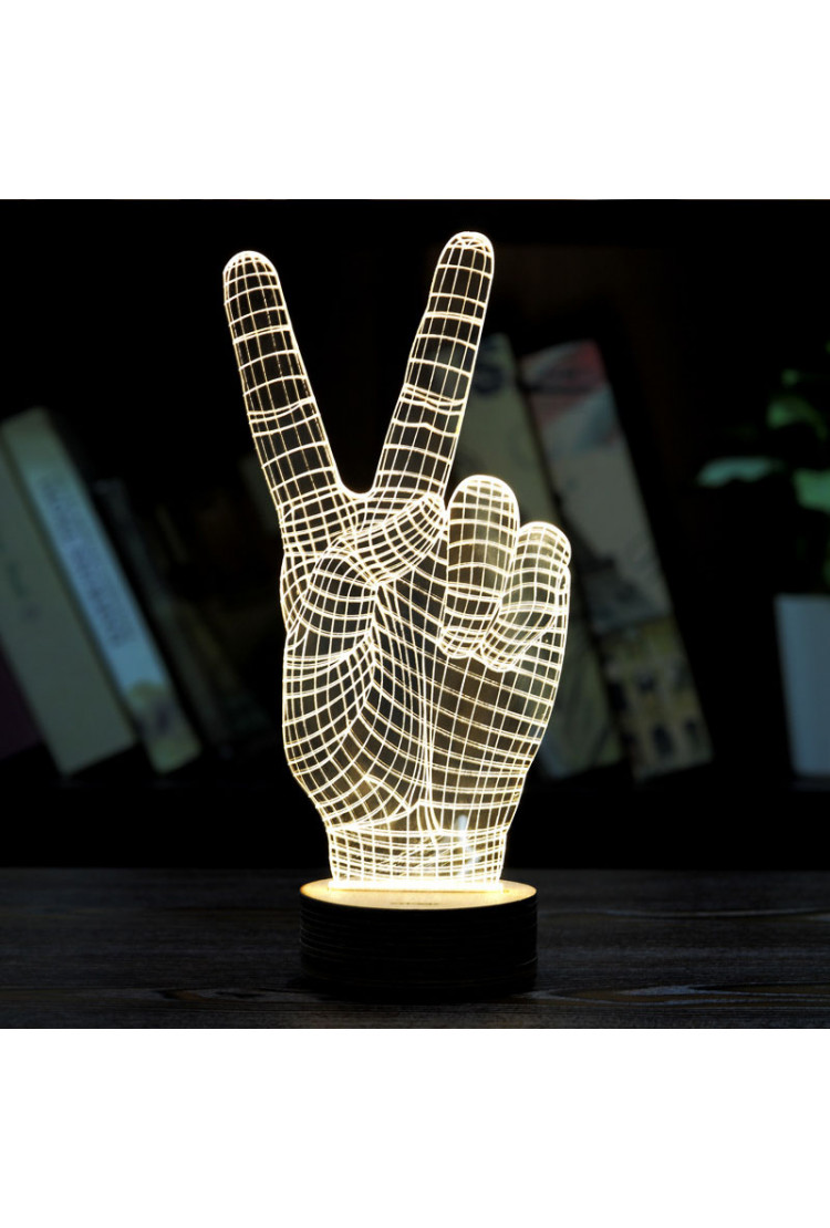 3D светильник Hi-Fi 3 цвета
