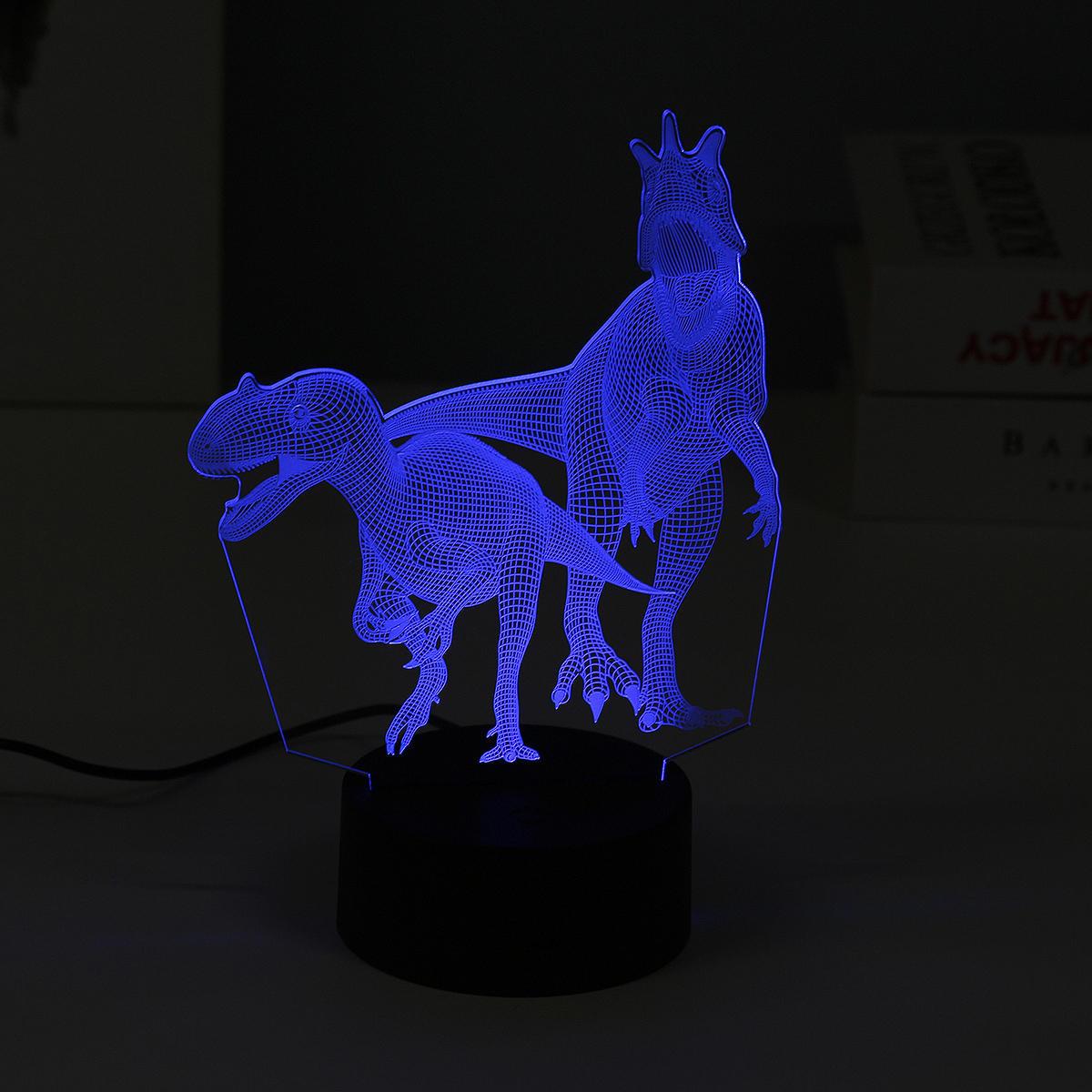 3D ночник Динозавры 3 цвета