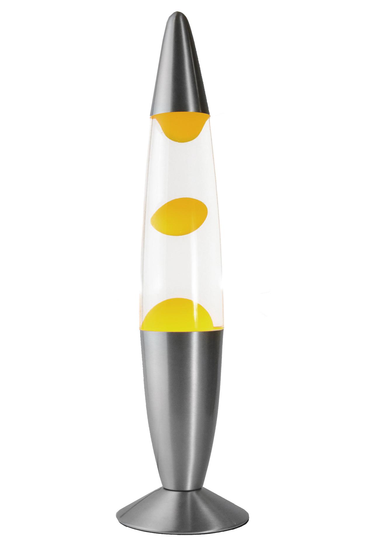 Лава-лампа 48см Жёлтая/Прозрачная (Воск)