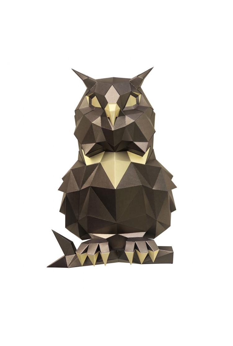 "3D-конструктор Paperraz ""Сова Пухля"" (бронза)"