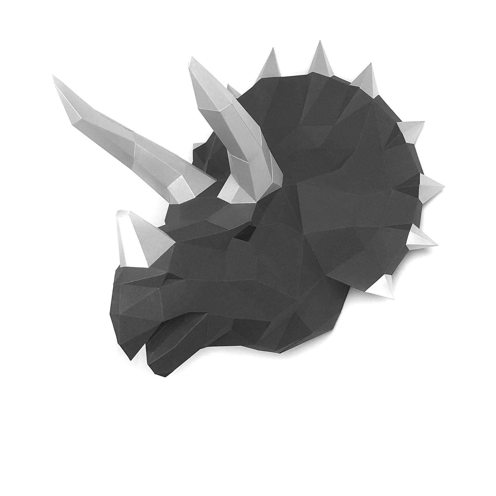 """3D-конструктор Paperraz """"Динозавр Топс"""" графитовый"""