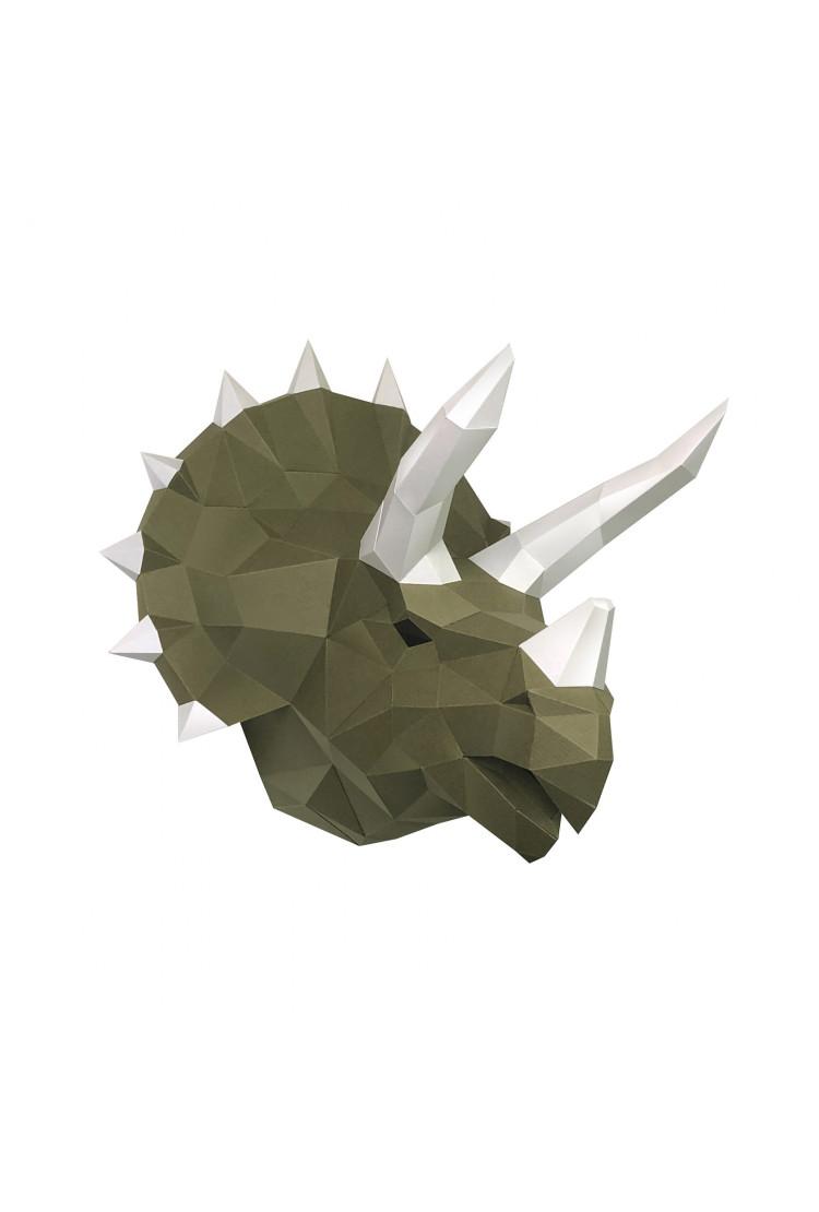 "3D-конструктор Paperraz ""Динозавр Топс"" васаби"