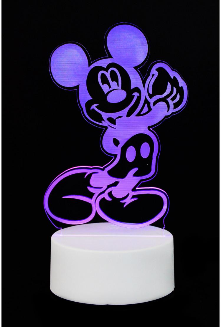 "3D светильник ""Микки Маус"" 7 цветов"