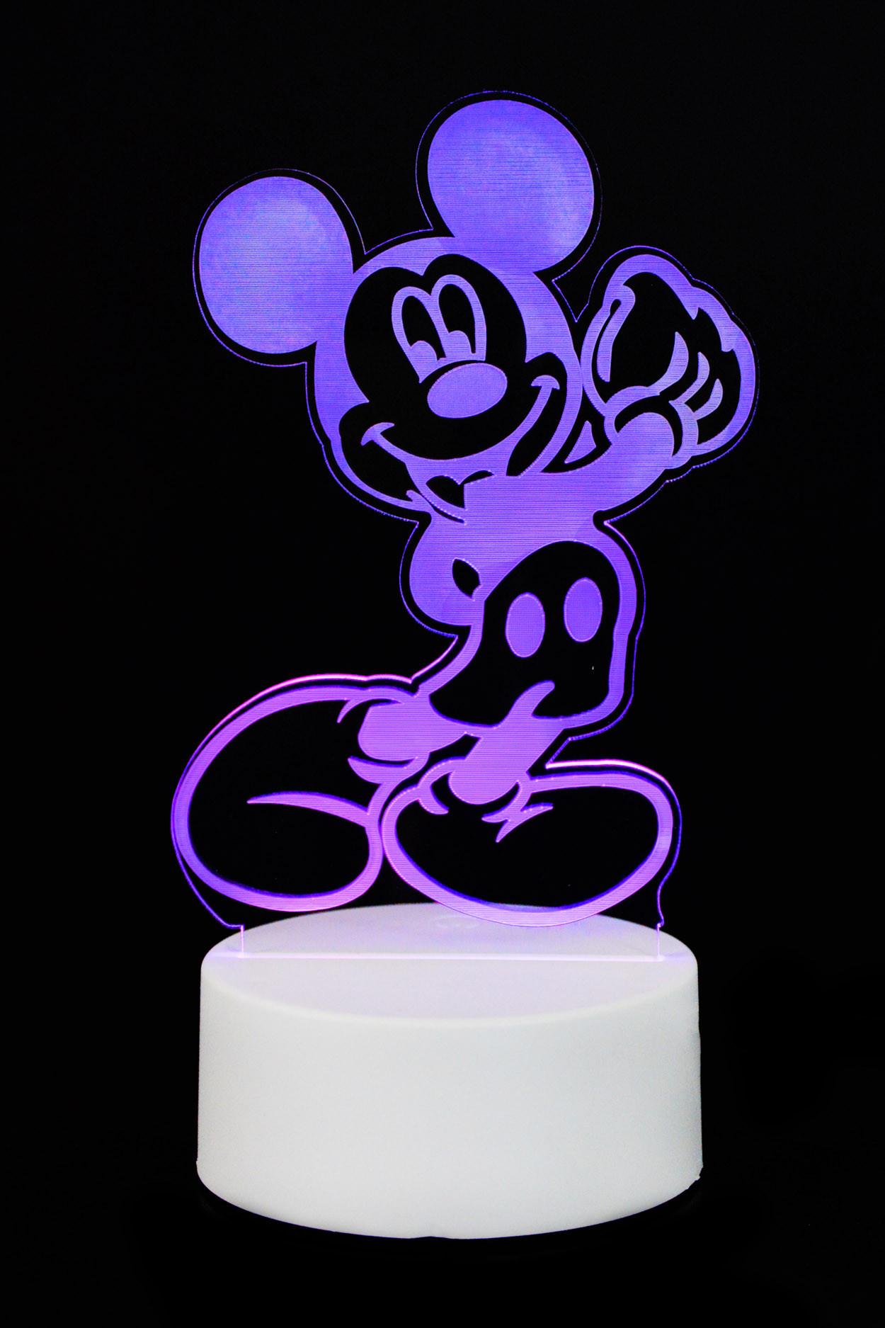 "3D светильник ""Микки Маус"" 3 цвета"