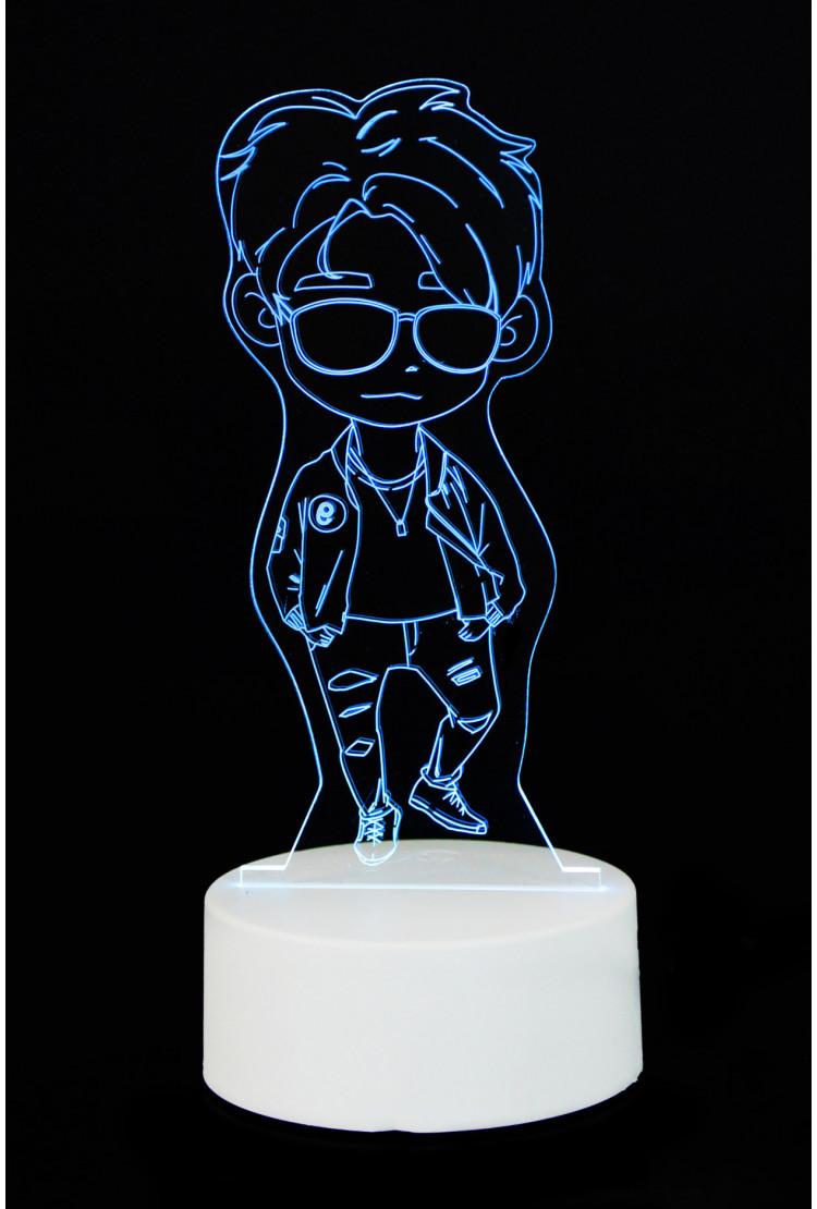 """3D светильник """"Boy"""" 7 цветов"""