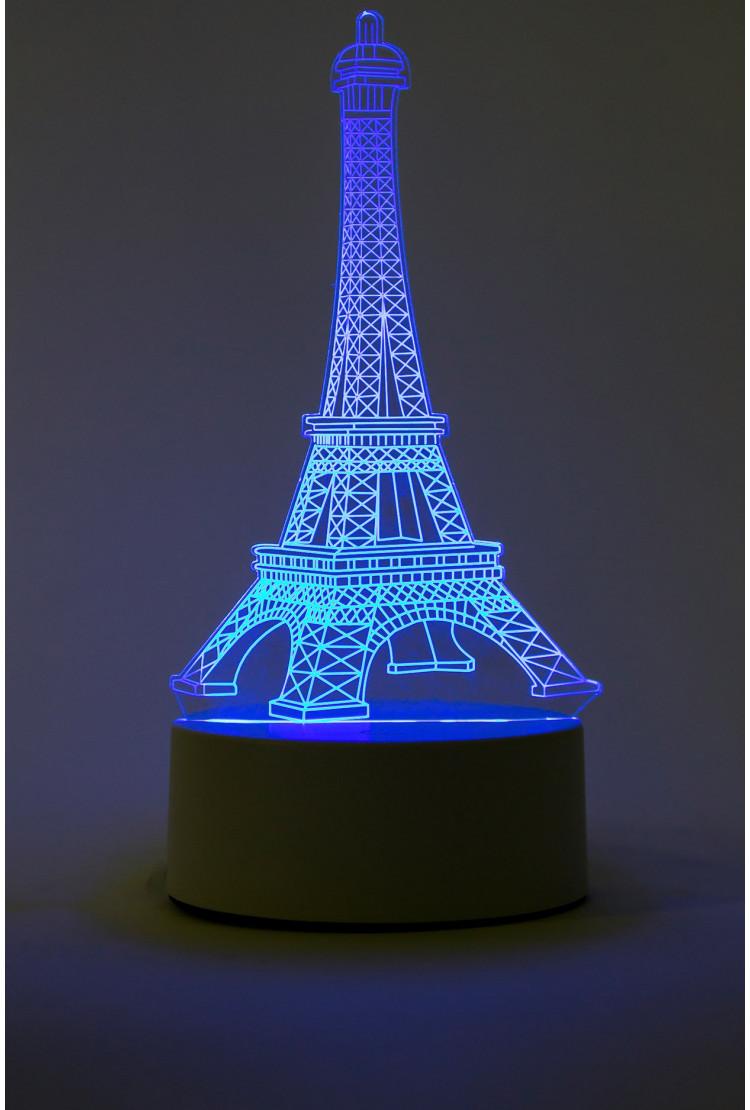 3D светильник Эйфелева башня 7 цветов