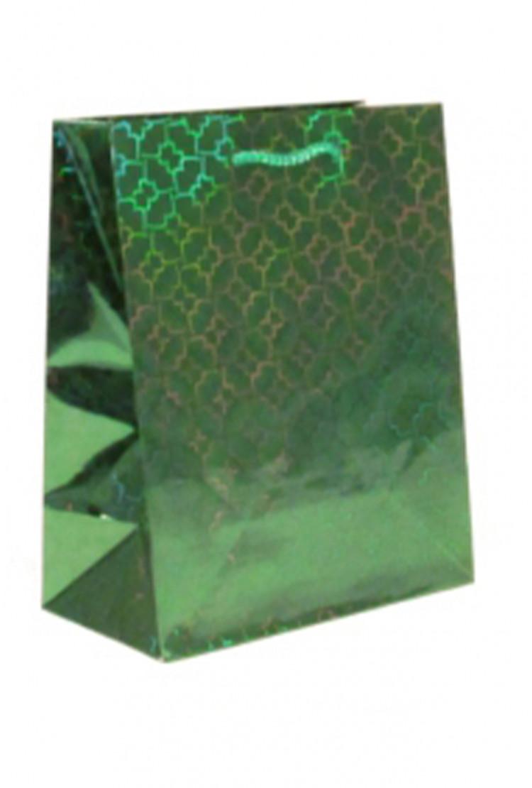 подарочный пакет зелёный (27*27*15)
