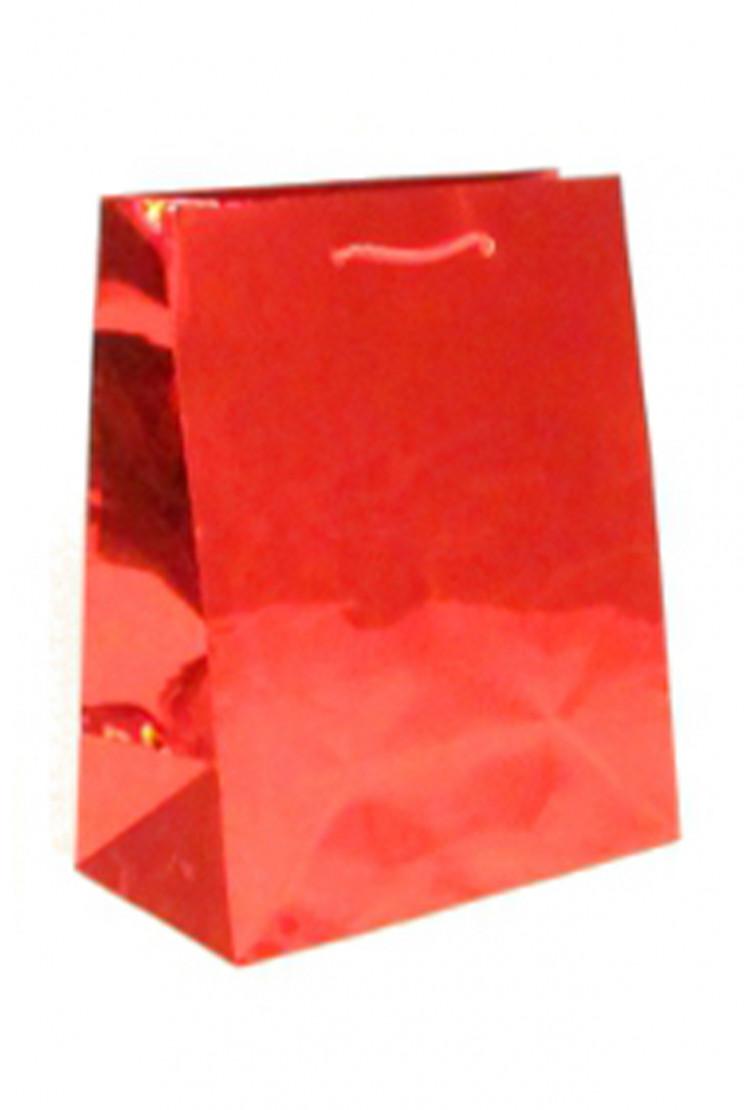подарочный пакет красный (27*27*15)