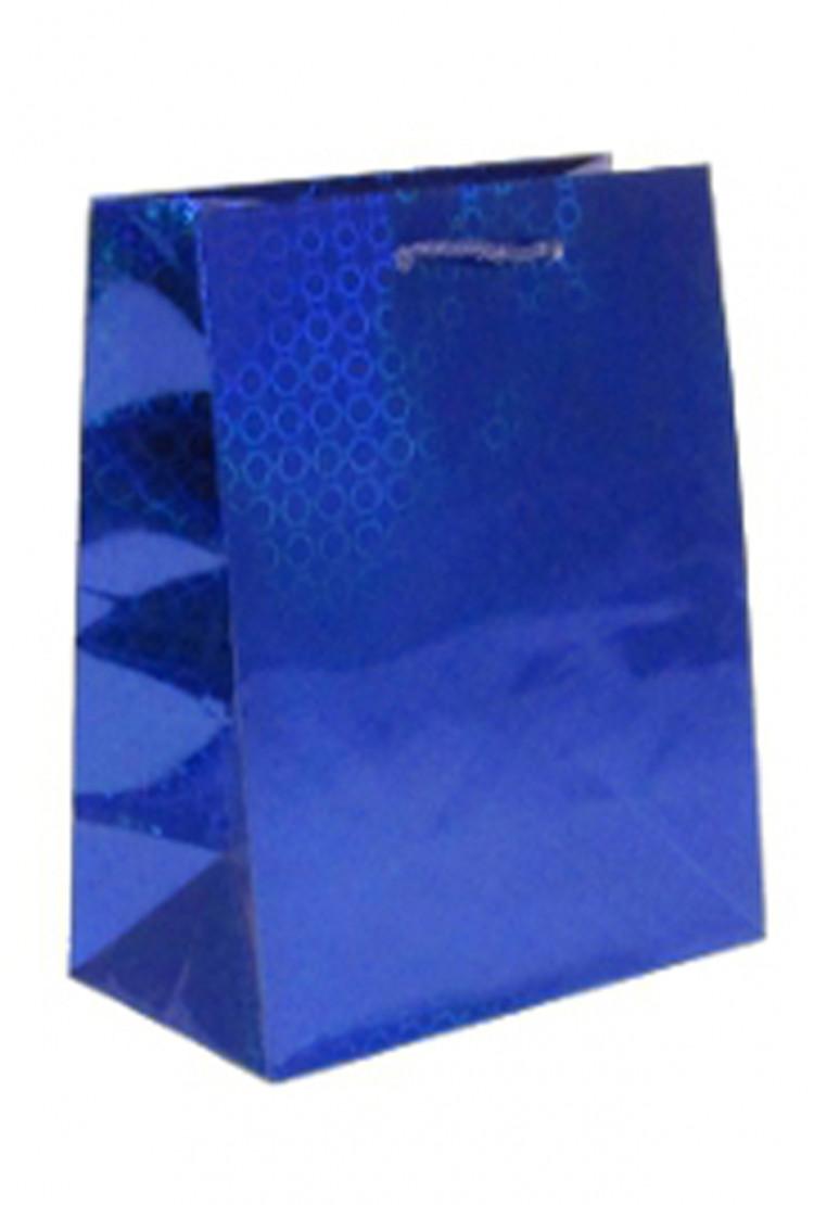 подарочный пакет синий (27*27*15)