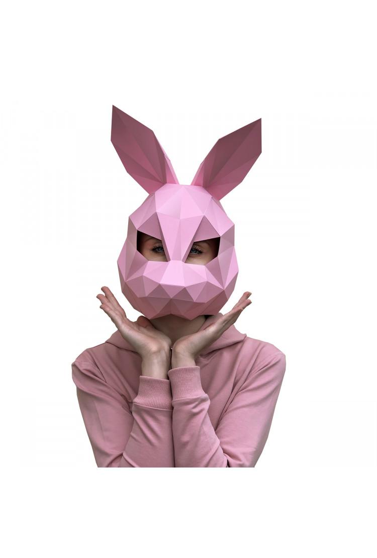 3D-конструктор «МАСКА ЗАЯЦ розовый»