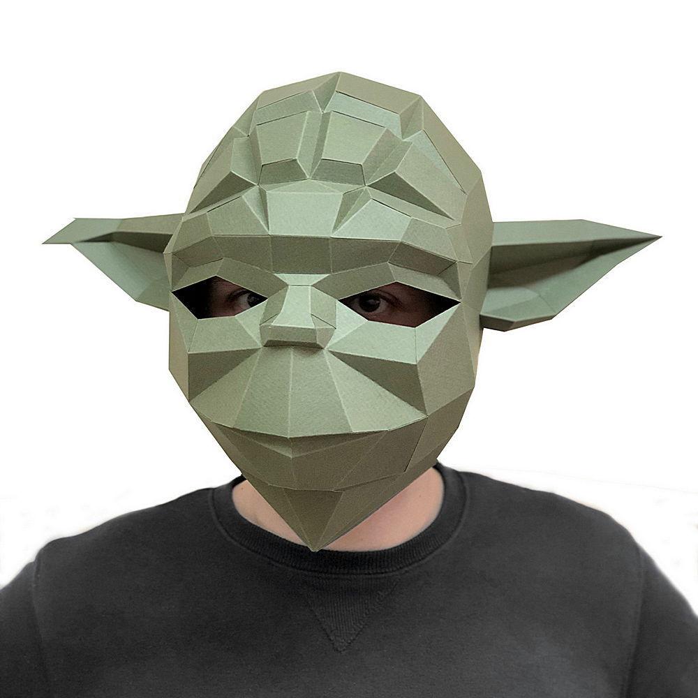 3D-конструктор Paperraz Маска «Мастер Йода»