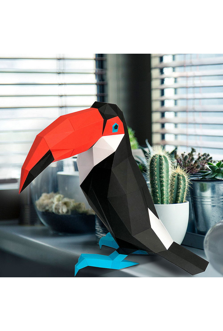 "3D фигура Paperraz ""Тукан"""